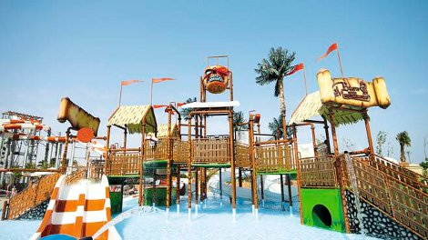 The water park at Coral Bay in Sharm el Sheikh