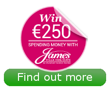 James Villas €250 spending money competition