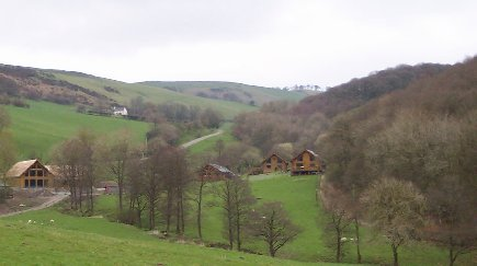 The lodges at Black Hall. The Superior Lodge is at the right of the picture, while the leisure suite is at the far left