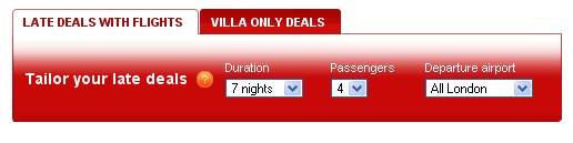 Get the latest Villa late deals and special offers from James Villas