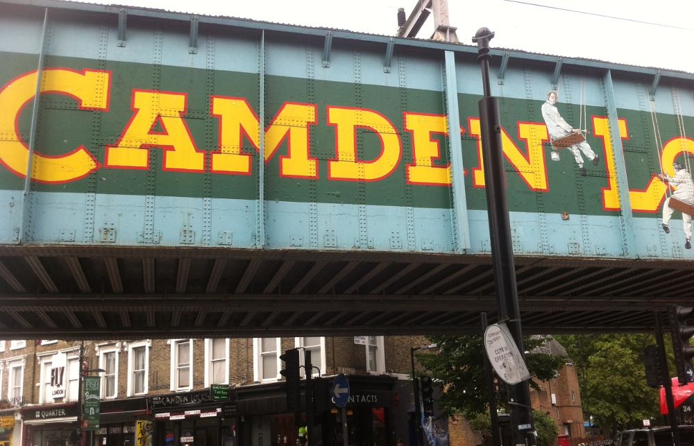 The sign at Camden Lock