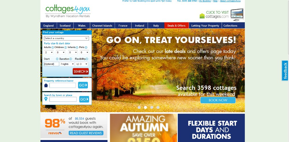 Cottages 4 You home page