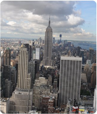 Empire State Building in New York City - as seen from the Top of the Rock