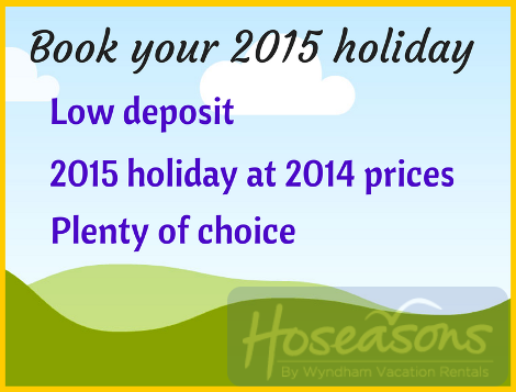 Book your Hoseasons 2015 holiday in 2014