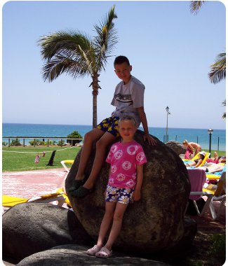The family at The Hotel Orquidea in Gran Canaria