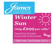 James Villas £299 special offer