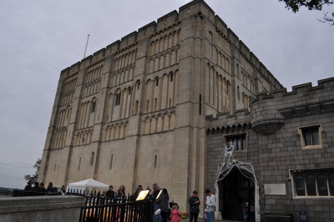 Norwich Castle Museum with the children