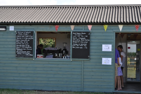 The cafe at Southwold Maize Maze