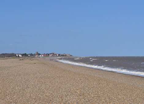 The view of Thorpeness from Aldeburgh