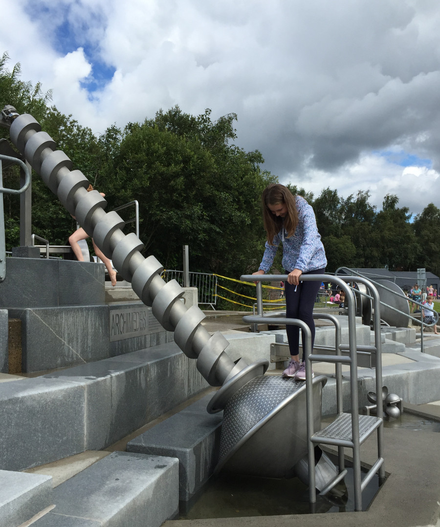 Archimedes Screw, one the activities at The Falkirk Wheel in Scotland