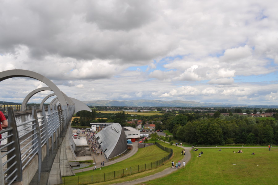 Walk to the top of the Falkirk Wheel for lovely views