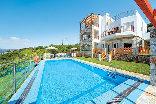 Villa holidays on Crete- including villa with flights, villa with no car required