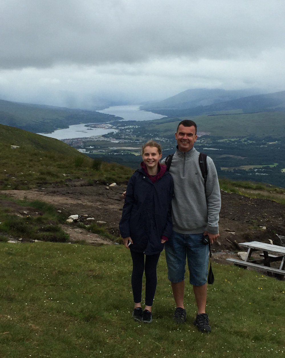At the top of the Nevis Range