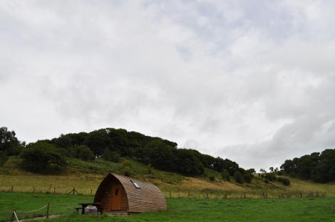 Wigwams at Black Hall Lodges in Shropshire
