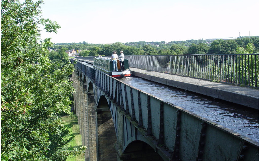 The Pontcysyllte Aqueduct near Trevor, Llangollen - you'll need a head for heights!