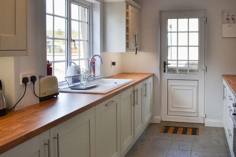 The kitchen in Bramble Cottage on the Northumberland Coast