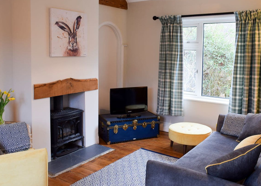 The living room at Briar Cottage in Prinsted, next to the South Downs National Park