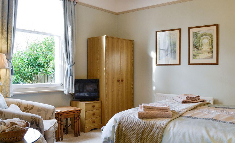 The double bedroom at Croft House Cottages in Keswick