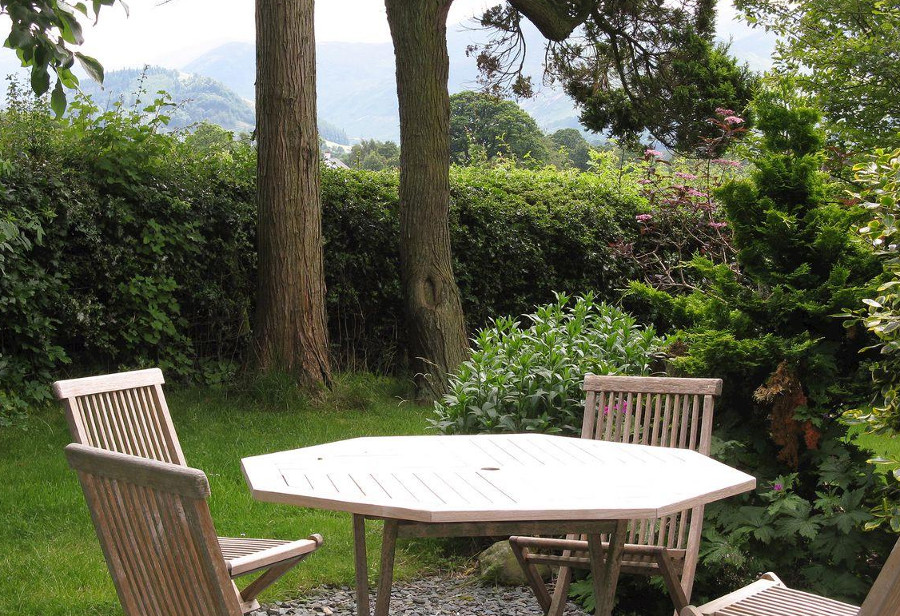 The garden at Croftside in the Lake District National Park