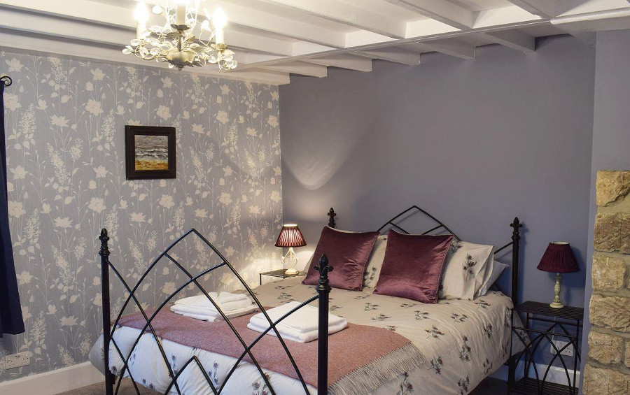 Gable End Cottage has a double and twin bedroom - this is the double bedroom