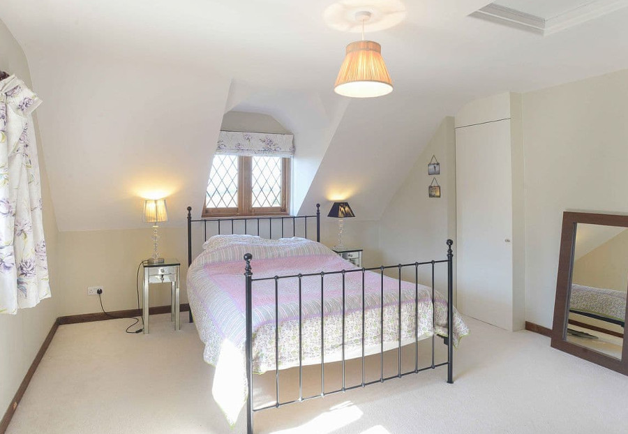 One of the double bedrooms at Greystones near Winchester