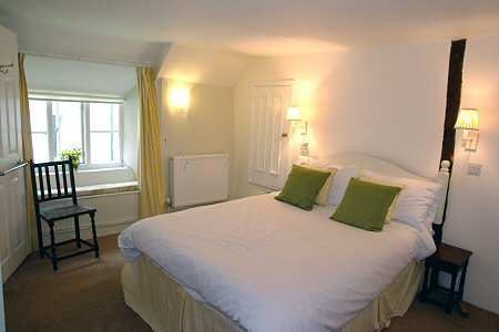 One of the two bedrooms at Quakers, Membury