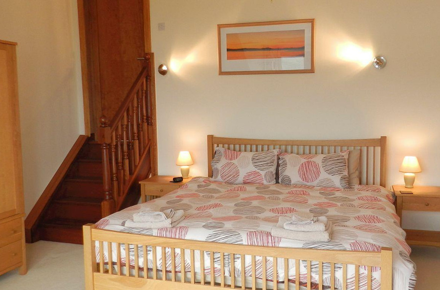 One of the five bedrooms in Tigh an Eilean, Lamlash