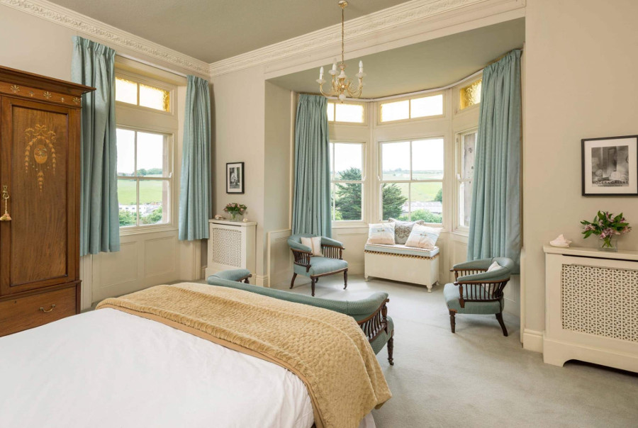 One of the five bedrooms at Turnerdale Hall East in Ruswarp, North Yorkshire