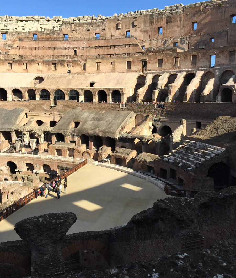 The Colosseum, one of the most popular attractions in Rome, is a 2 mile walk from RomExperience Borgo Pio apartment