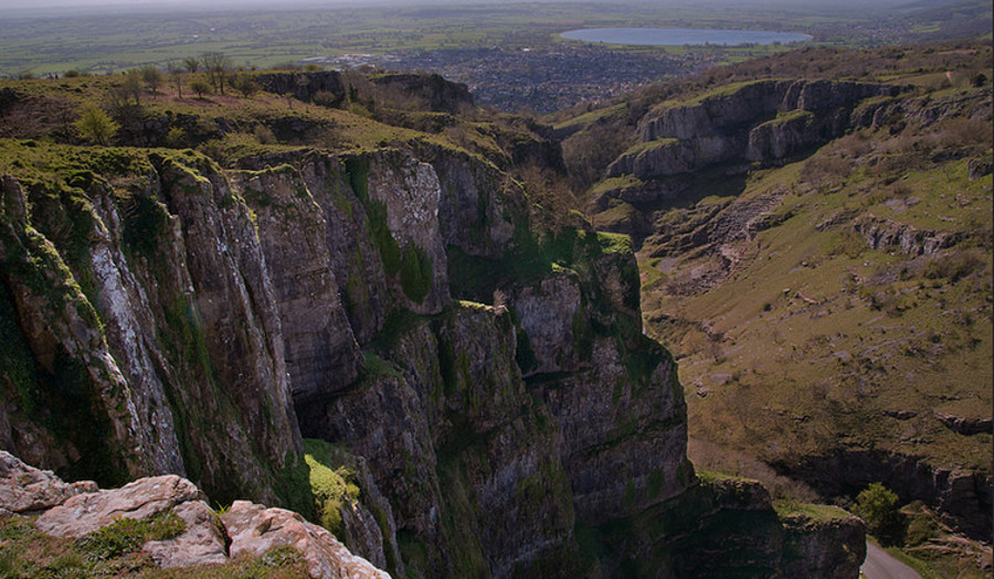 Cheddar Gorge, just down the road from Little Moorland Farm Lodges