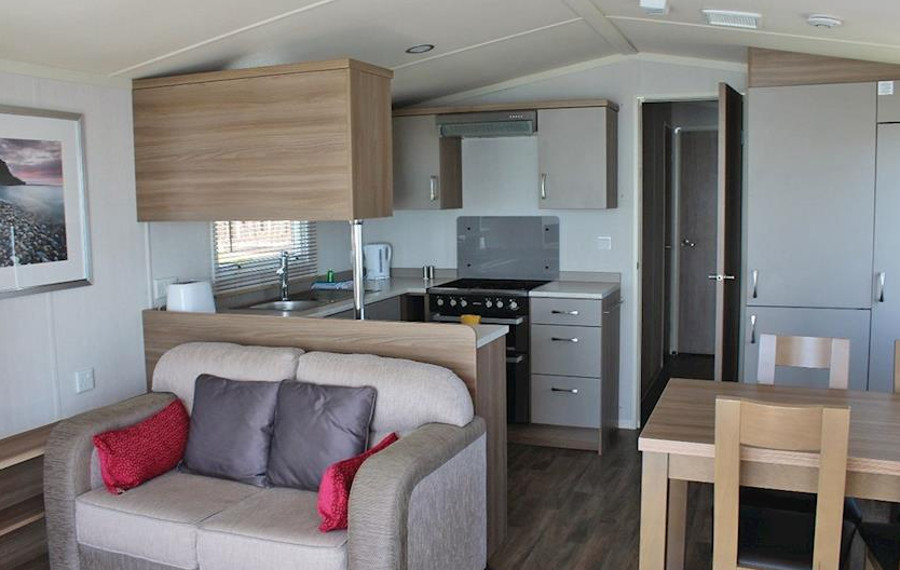 Inside one of the caravans at Cove Holiday Park in Easton