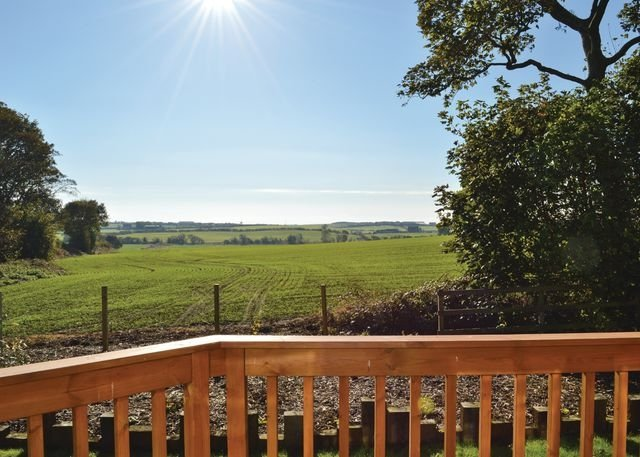 The views from a lodge at Durham Coastal Lodges