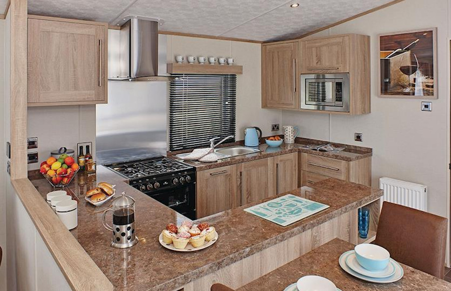 The kitchen area at Lakesway in Cumbria