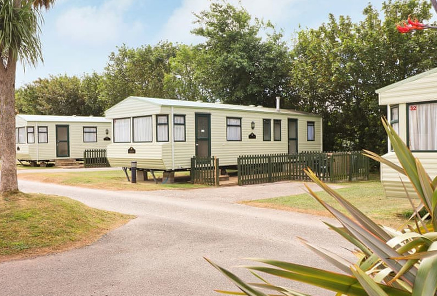 The caravans at Monkey Tree Holiday Park are the Fistral, Watergate, Crantock, Holywell and Towan