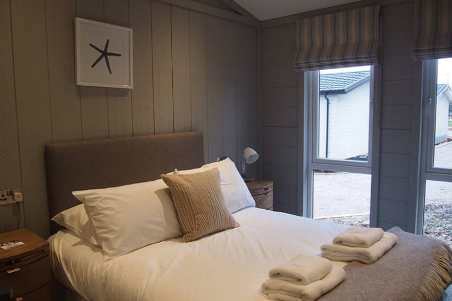 One of the bedrooms in a lodge at Norfolk Park, Norfolk Coast