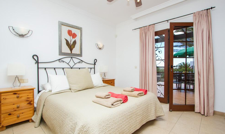 A bedroom at Casa Palmera in Playa Blanca, Lanzarote