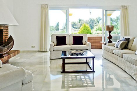 The interior of Villa Christina in Sotogrande, Costa del Sol