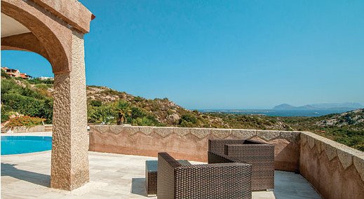The views from the garden at Villa Pevero Hill 1 in Sardinia