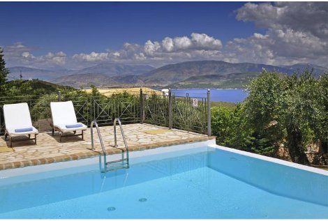 Take in the views from Villa Ricco on Corfu