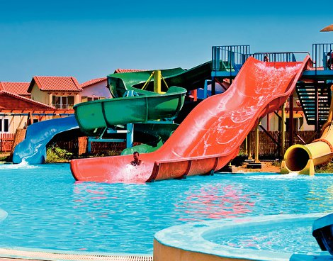 The water park in Aquis Marine Resort & Waterpark on Kos